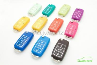 Obaly vystřelovacích klíčů z barevného plastu pro vozy VW group