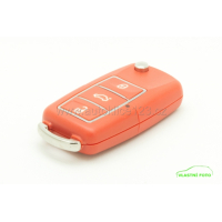 Náhradní 3 tlačítkový obal klíče ŠKODA z barevného plastu