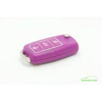Fialový náhradní obal klíče ŠKODA z barevného plastu