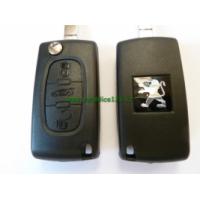 vystřelovací klíč PEUGEOT 407 3 tlačítka ID46, 433MHz