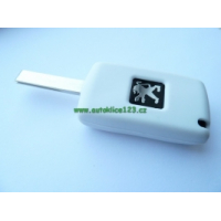 Silikonový obal PEUGEOT 2 tlačítka bílý