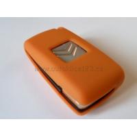 Silikonový obal klíče CITROEN 2 tlačítka oranžová