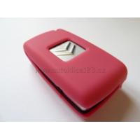 Silikonový obal klíče CITROEN 2 tlačítka růžová