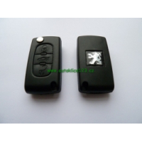 Klíč PEUGEOT 407 vystřelovací s čipem a dálkovým ovládáním