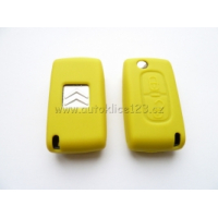 Silikonový obal klíče CITROEN 2 tlačítka žlutá
