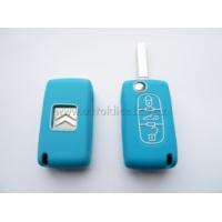 Silikonový obal klíče CITROEN 3 tlačítka modrá