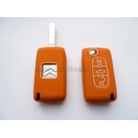 Silikonový obal klíče CITROEN 3 tlačítka oranžová
