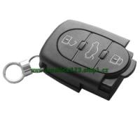Obal auto klíče AUDI 3 tlačítka typ baterie 2032